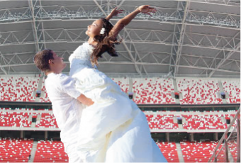 National Stadium Wedding Photography
