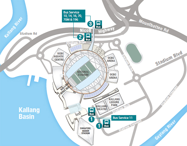 Getting Here | Singapore Sports Hub