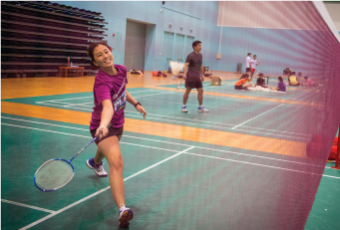 Indoor air-conditioned badminton court Singapore